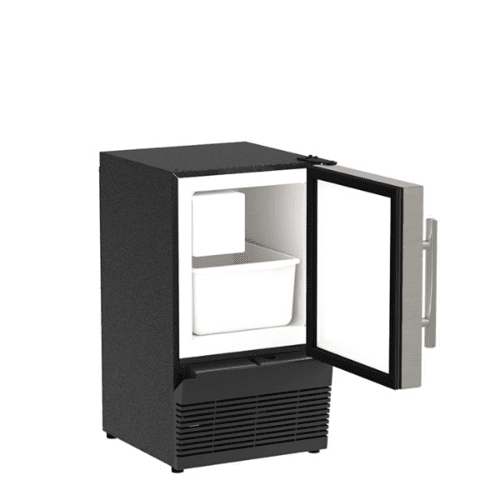 Marvel - 14-In Low Profile Compact Crescent Ice Machine with Door Style - Stainless Steel