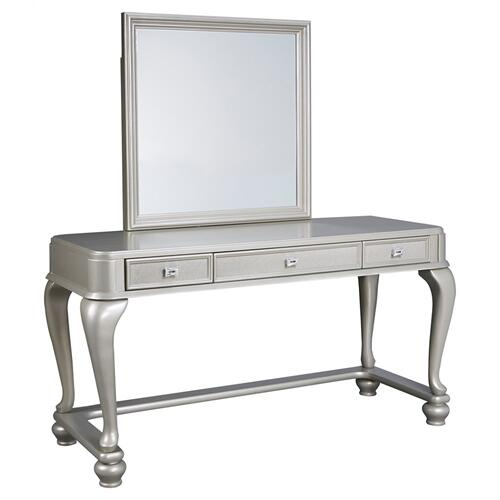 Youth Mirrored Vanity With Chair