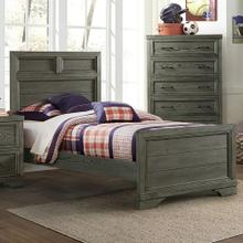 Product Image - Foundry Twin Bed  Brushed Pewter Brushed Pewter