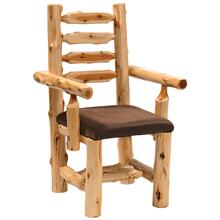 Arm Chair - Natural Cedar - Standard Leather