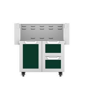 """30"""" Hestan Outdoor Tower Cart with Door/Drawer Combo - GCR Series - Grove"""