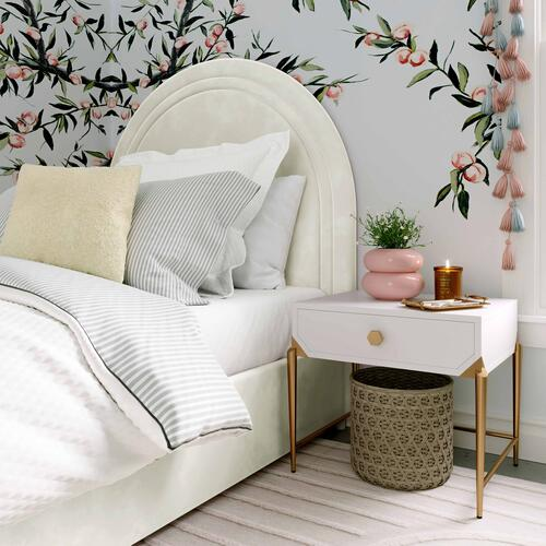 Tov Furniture - Gumdrop Cream Velvet Bed in Twin