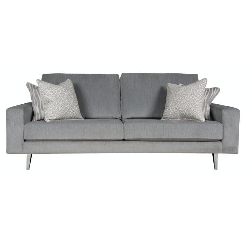 """Contemparary style wide track arm sofa. Shown with 8"""" Pyramid legs. Also available with 8"""" Tapered round, 8"""" Plinth base, or 8"""" Square tube legs."""