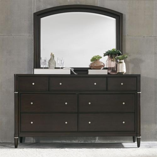 King Opt California Panel Bed, Dresser & Mirror, N/S