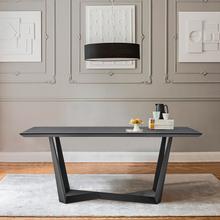 See Details - Radford Dark Gray Rectangular Dining Table with Black Finish
