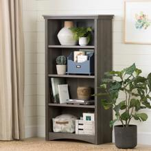 Gascony - 4-Shelf Bookcase, Gray Maple