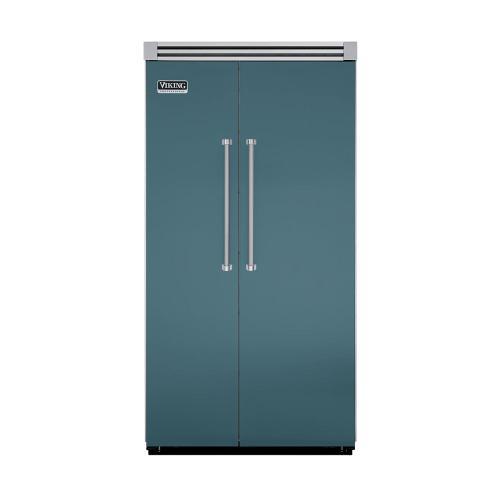 "Viking - Iridescent Blue 42"" Quiet Cool™ Side-by-Side Refrigerator/Freezer - VISB Tru-Flush™ (42"" wide)"