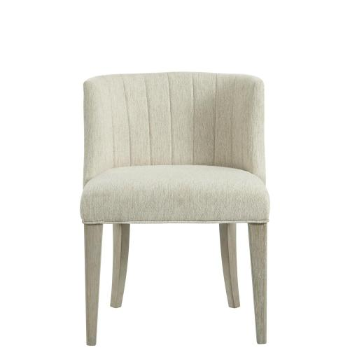 Cascade - Upholstered Curved Back Side Chair - Dovetail Finish