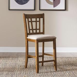 24 Inch Lattice Back Counter Chair
