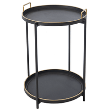 Black & Gold Tray Table