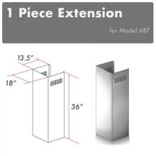 """View Product - ZLINE 1-36"""" Chimney Extension for 9 ft. to 10 ft. Ceilings (1PCEXT-687)"""