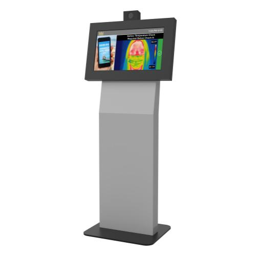 Temperature Sensing Digital Signage Kiosk Integrated with a Display and 22Miles TempDefend TM Protection Basic Software