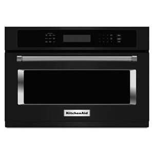 "Kitchenaid24"" Built In Microwave Oven with 1000 Watt Cooking - Black"