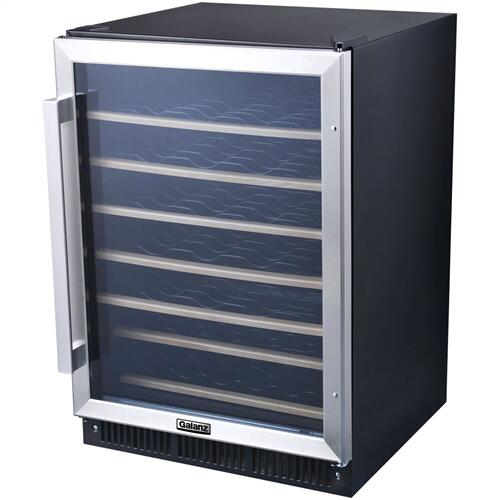 Galanz - Galanz 5.7 Cu Ft Built-In Wine Cooler in Stainless Steel