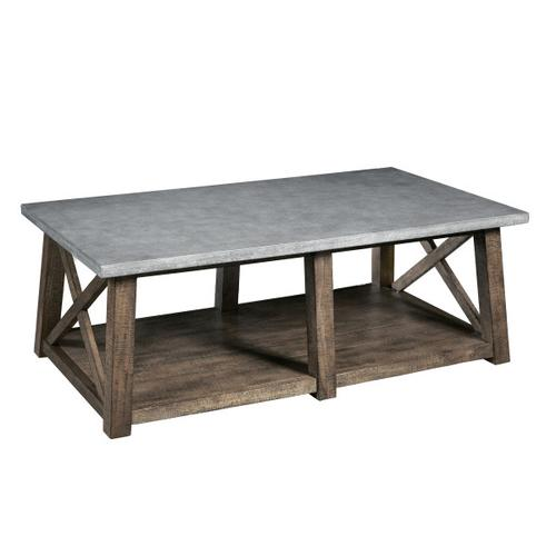 Farmhouse Style Distressed Cocktail Table