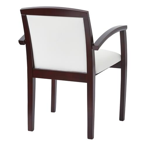 Kenwood Mahogany Full Cushion Back Chair In Dillon Snow (2-pack)