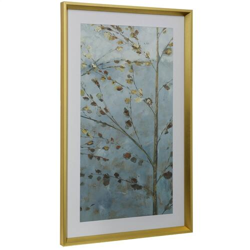 Style Craft - WHISK I  16in w X 41in ht  Framed Print Under Glass with Matte