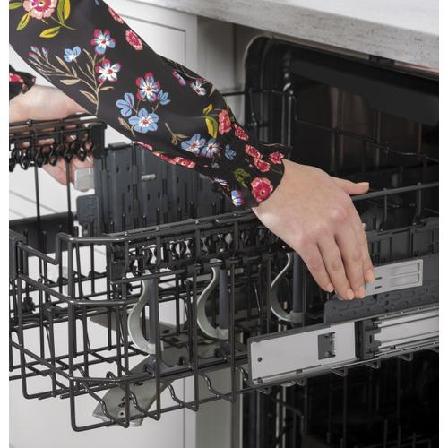 Café Stainless Steel Interior Dishwasher with Sanitize and Ultra Wash & Dry in Platinum Glass