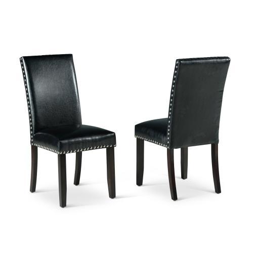 Westby Black PU Side Chair w/Nailhead