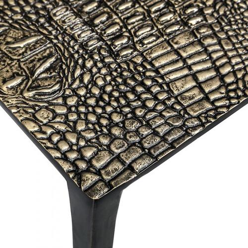 Axel Rectangular Croc Table - Bronze