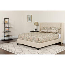 See Details - Riverdale King Size Tufted Upholstered Platform Bed in Beige Fabric with Pocket Spring Mattress