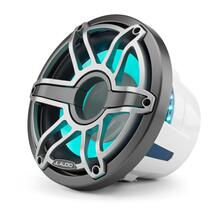 View Product - 10-inch (250 mm) Marine Subwoofer Driver with Transflective™ LED Lighting, Gunmetal Trim Ring, Titanium Sport Grille, 4