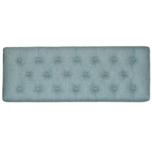 Diamond Button Tufted Upholstered Bed Bench in Lunar Chambray