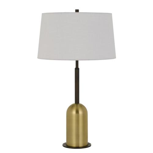 Rimini Metal Desk Lamp With Linen Drum Shade