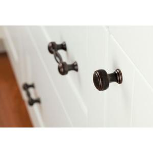 Weymouth oil rubbed bronze drawer knob