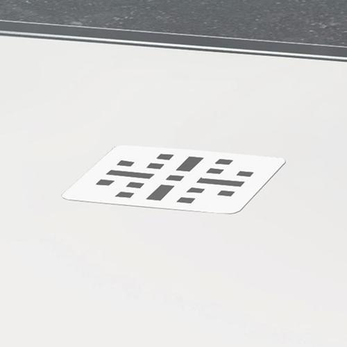 "blustone™ shower base White matte, 47 1/4"" x 35 1/2"" x 1 1/4"""