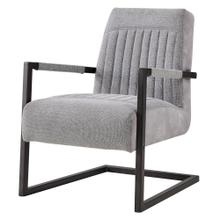 Jonah KD Fabric Arm Chair, Sage Gray/Velvet Gray