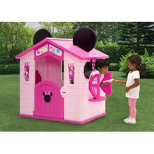 Minnie Mouse Plastic Indoor/Outdoor Playhouse with Easy Assembly - Minnie Mouse (1065)