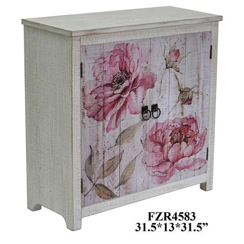 Crestview Collections - Botanical 2 Door Floral Cabinet