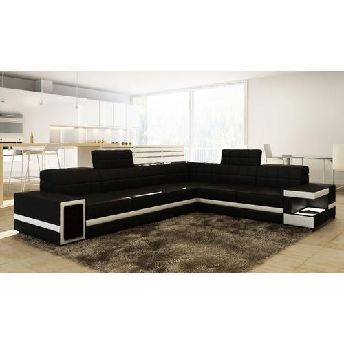 Divani Casa 6106 - Modern Bonded Leather Sectional Sofa
