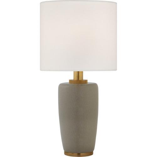 Visual Comfort BBL3601SHG-L Barbara Barry Chado 31 inch 100 watt Shellish Gray Table Lamp Portable Light, Large