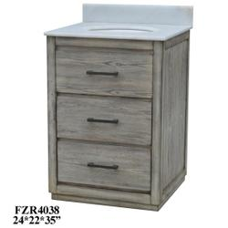 """Richmond 2 Drawer 24"""" Vanity Sink"""