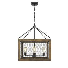 Sutton 4 Light Pendant,With Shade