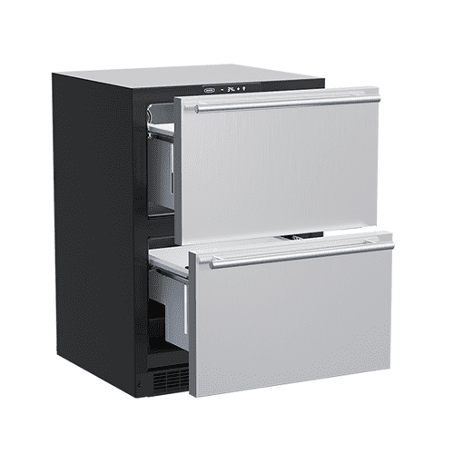 24-In Built-In Refrigerated Drawers with Door Style - Stainless Steel