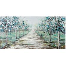 See Details - The Road Less Traveled Hand Painted Canvas  28in X 55in X 1in  Stretched Canvas