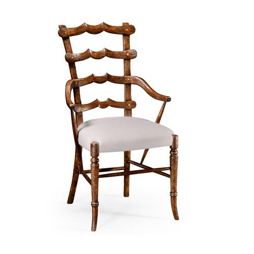 "Walnut ""Yoke"" ladderback armchair"