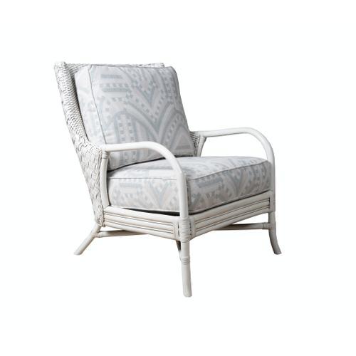 Capris Furniture - Occassional Chair, Frozen White Finish.