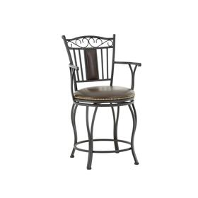 Barbara Jumbo Swivel Counter Chair With Armrest
