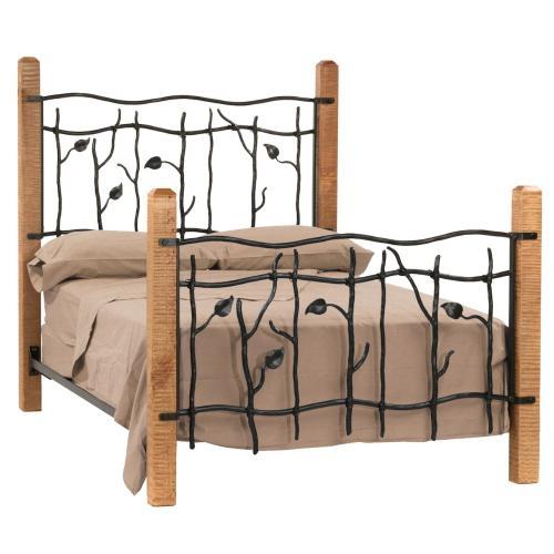 Stone County Ironworks - Sassafras Queen Iron Bed