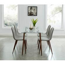 Abbot/Lyna 5pc Dining Set, Walnut/Grey