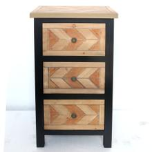 3 drawers wooden cabinet