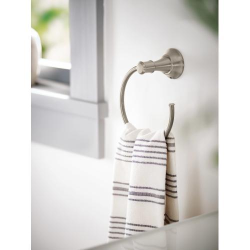 Gilmour Spot resist brushed nickel towel bar/towel ring