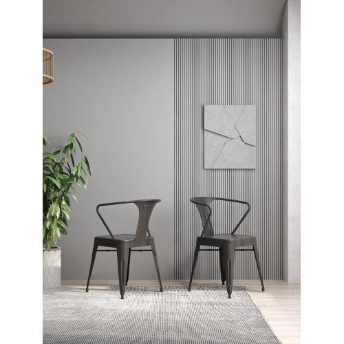 Dakota III Dining Arm Chair, Gunmetal Gray D131-20