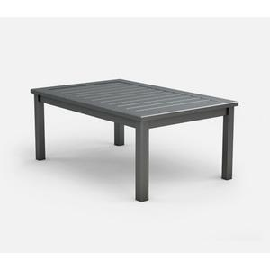 "28"" x 44"" Rectangular Coffee Table (no Hole) Ht: 18"" Post Aluminum Base (Frame Finish: Carbon)"