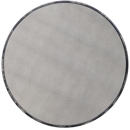 Junius Antique White Round Mirror