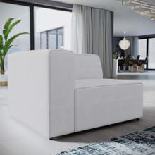 Mingle Fabric Left-Facing Sofa in White